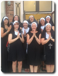 Some of the ladies looking rather holy!