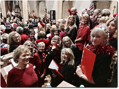100 Voices for Christmas at St. Aldhelm's church, Poole